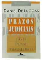 Prazos Judiciais Cível, Penal e Trabalhista