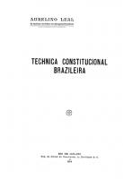 Téchnica Constitucional Brasileira