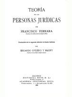 Teoria da Las Personas Juridicas