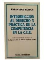 Introducción Al Derecho Y Práctica de La Competencia en La C.E.E