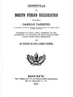 INSTITUTAS DE DIREITO PUBLICO ECCLESIASTICO