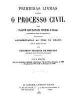 Primeiras Linhas Sobre o Processo Civil